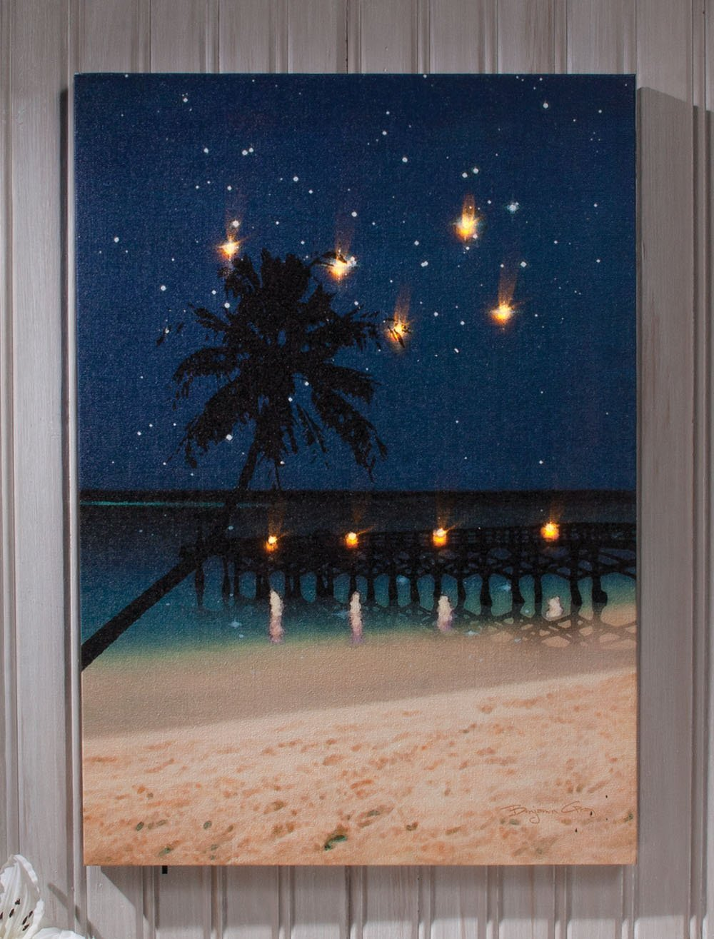 Where to use light up canvas wall art warisan lighting for Lights for paintings