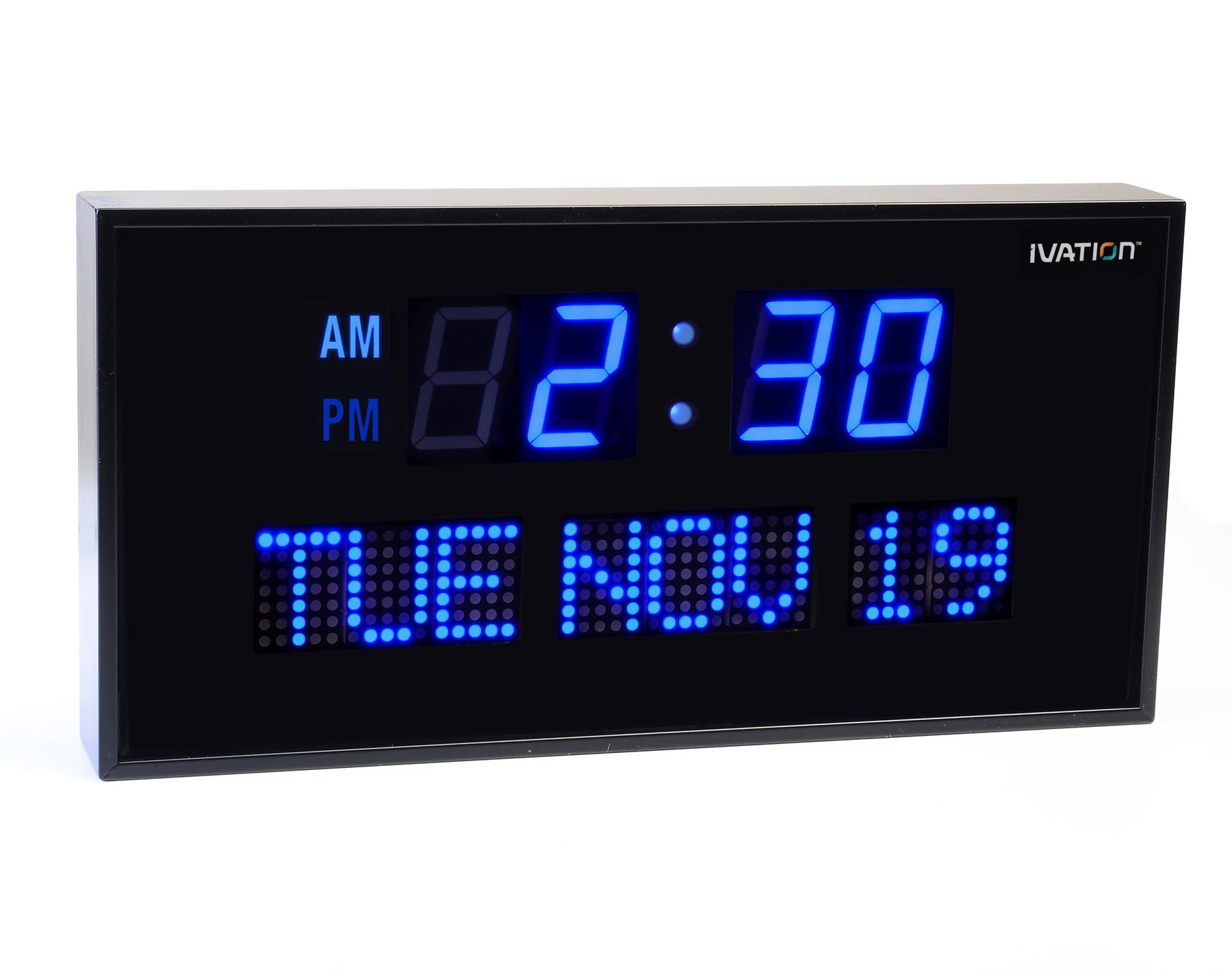 Adding elegance to your room using lighted digital wall clock warisan lighting - Digital illuminated wall clocks ...