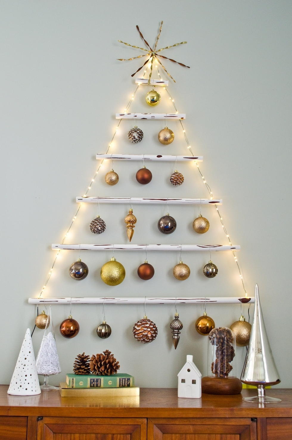Christmas Tree On Wall With Lights how to make a lighted wall christmas tree | warisan lighting