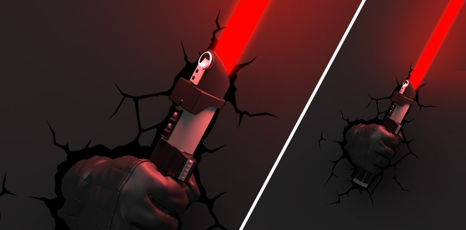 Wall Mounted Lightsaber Lamp : Lightsaber wall lights - May the force of light be with you Warisan Lighting