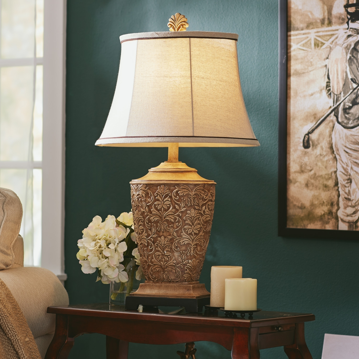 Living room table lamps 10 methods to bring incandescent Living room lamp