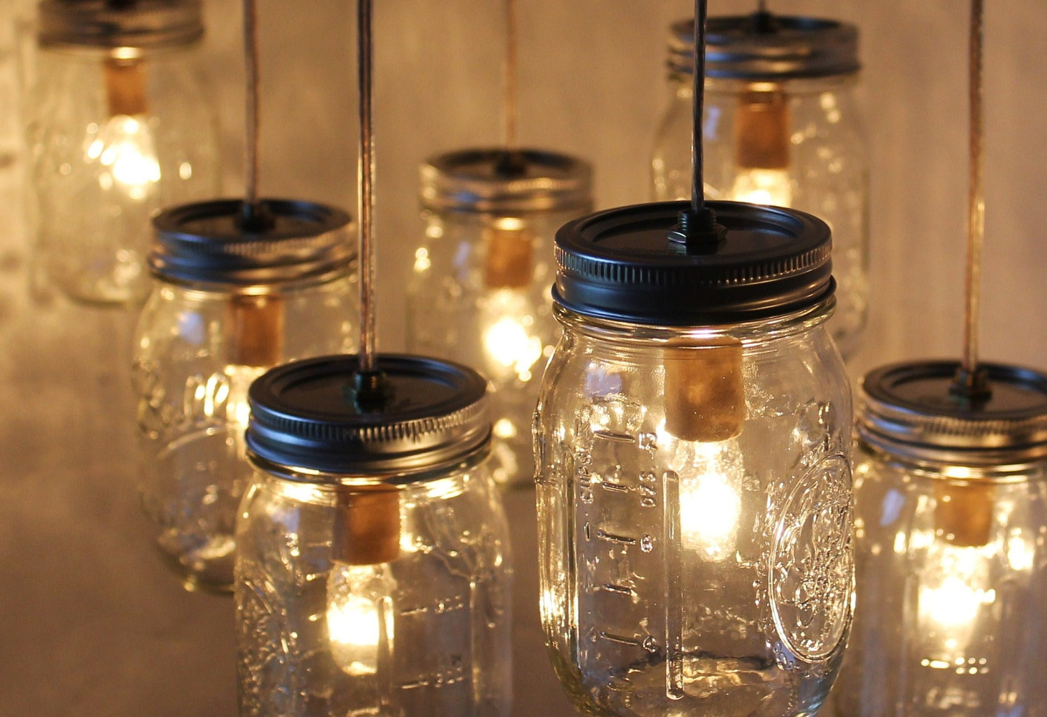 Mason jar lamp diy the easy affordable and dazzling lighting affordable lighting fixture arubaitofo Gallery