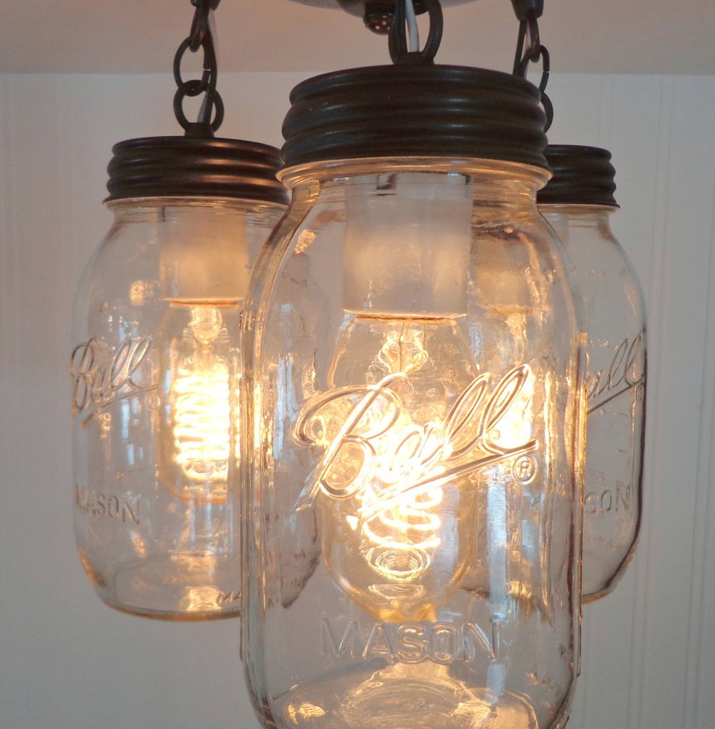 Use Mason Jar Lamps to add rustic charm to your home Warisan
