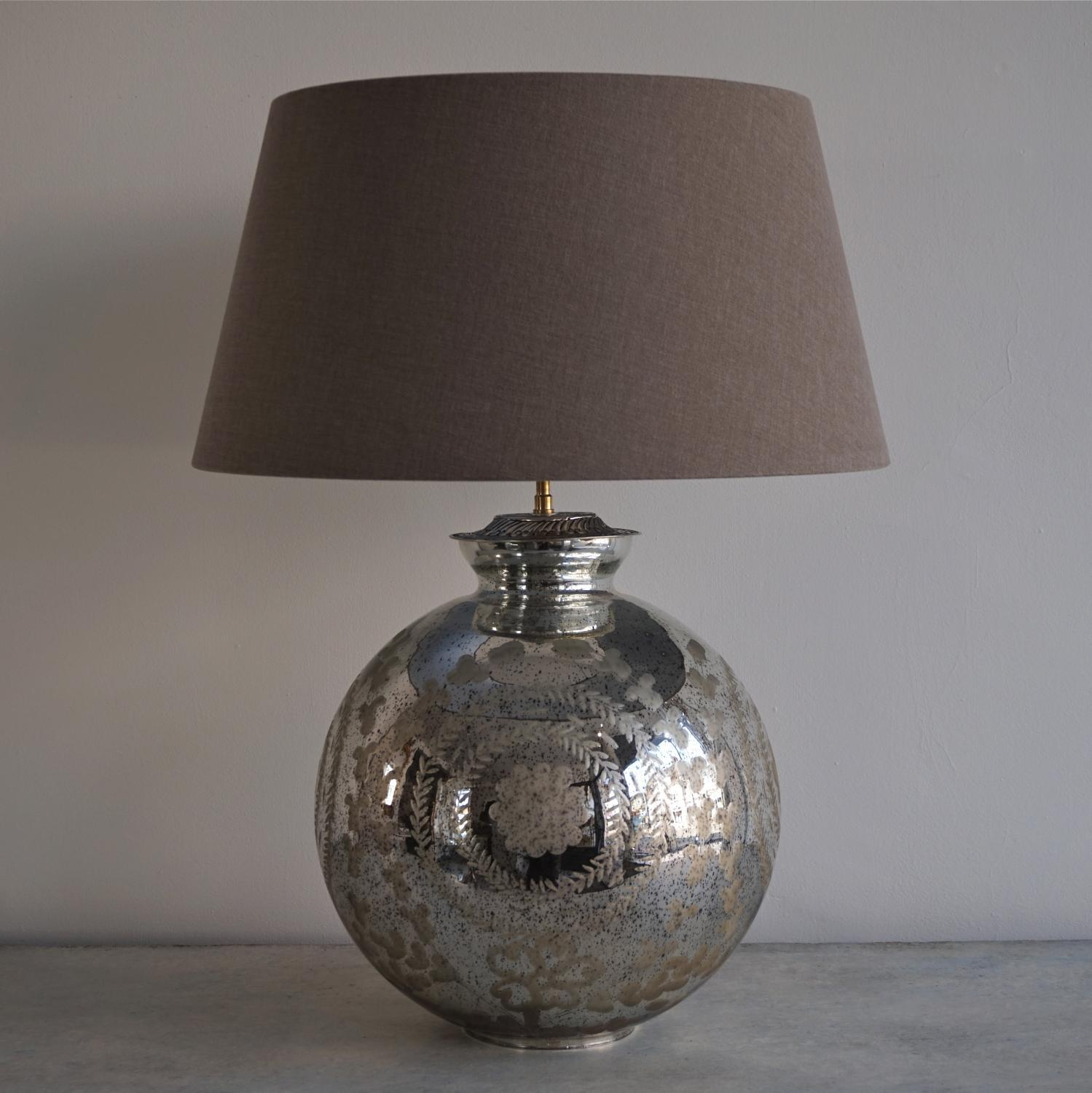 mercury glass table lamps u2013 a nostalgic sparkle for every home