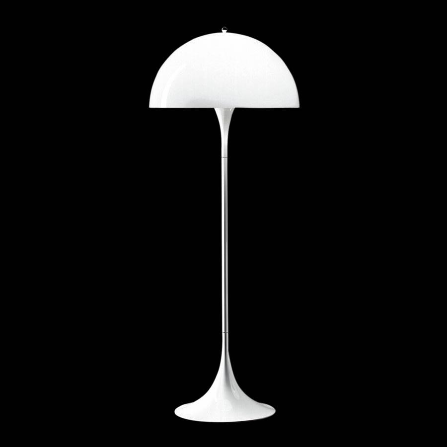 Modern white floor lamp - Styles