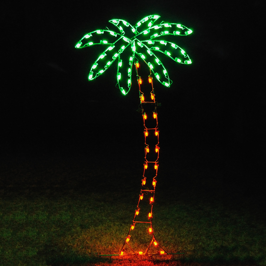 Best Christmas Decorations Fort Lauderdale: Outdoor Palm Tree Lamp: Magnificent Silhouette In Your