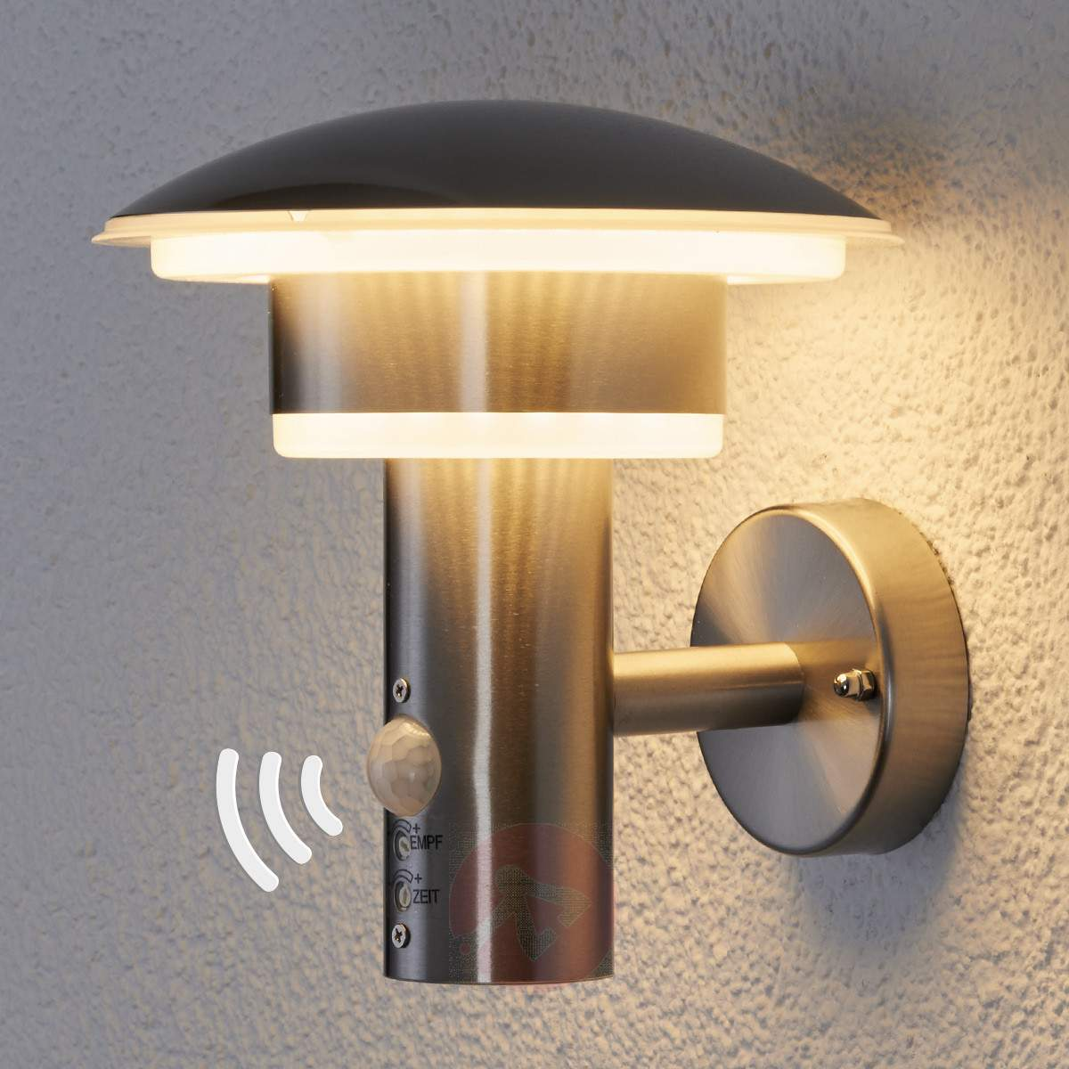 Further, By Switching On Its Lights, It Would Also Alert You To The  Presence Of Someone On Your Doorsteps. Outdoor Wall Lights With Pir ...