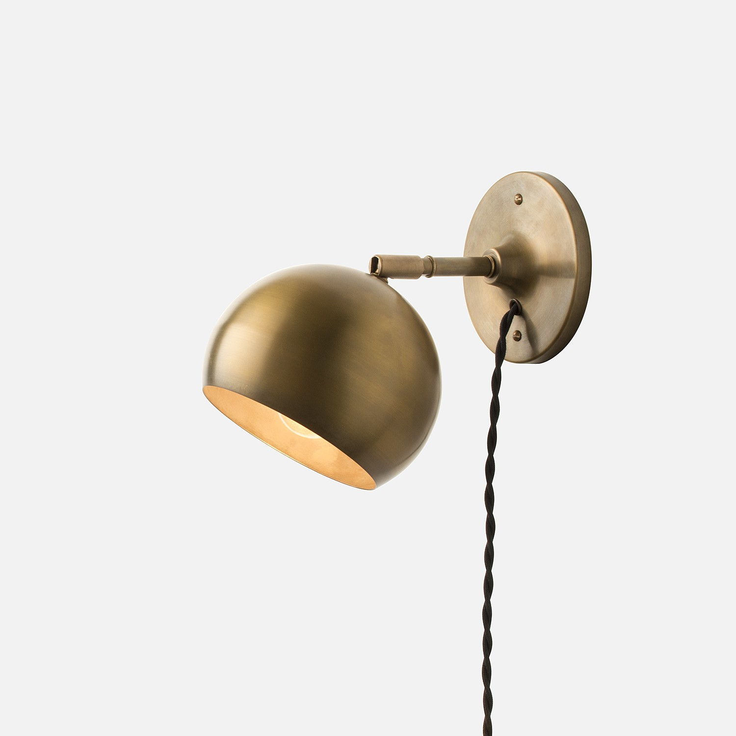 #7 Stylish Bronze Light - Guide To Choosing Plug In Wall Lights Warisan Lighting