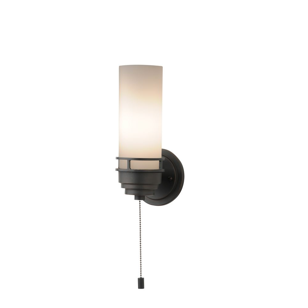 3 Contemporary Pull Chain Wall Light Fixture