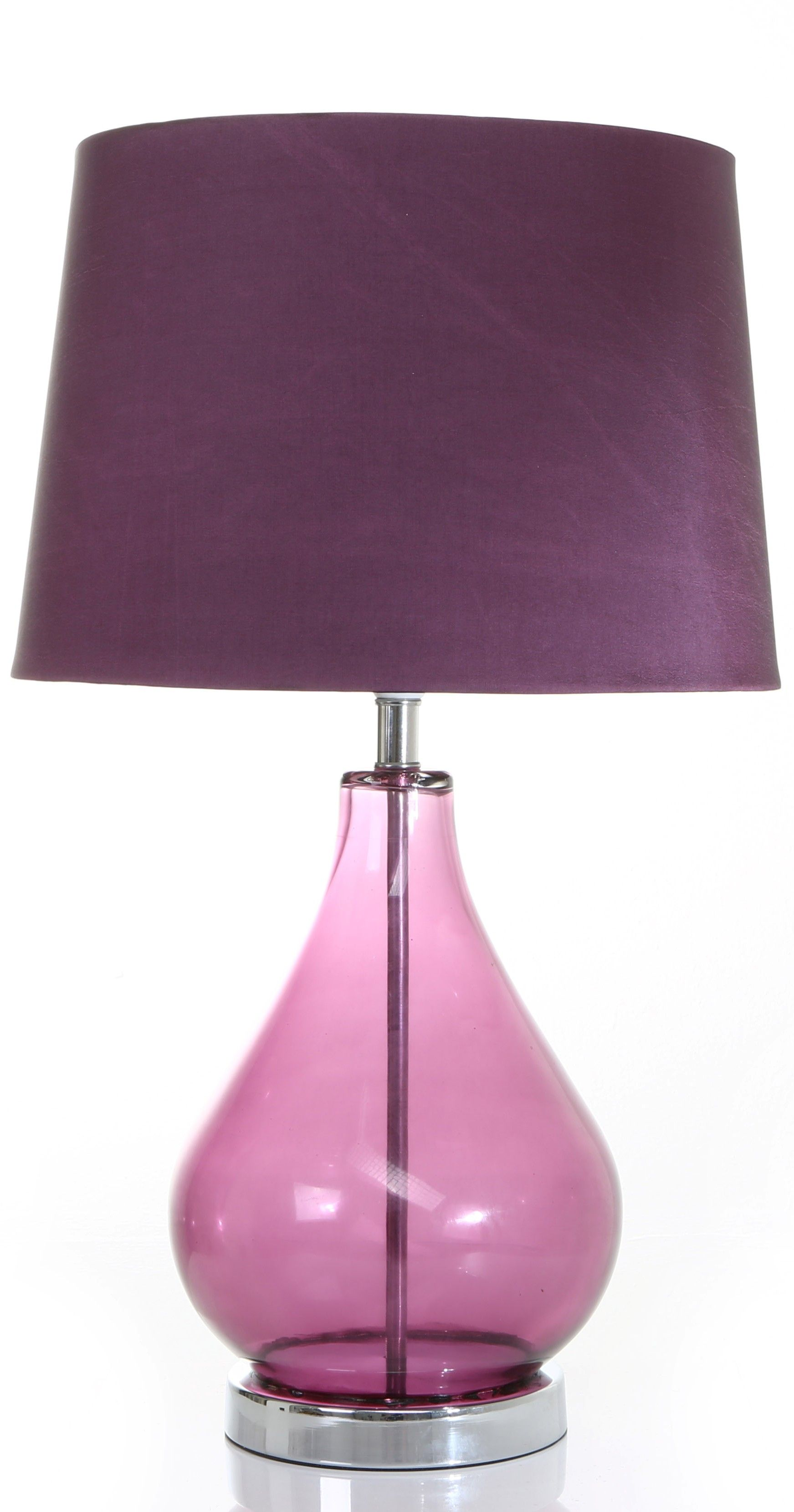 Purple Glass Table Lamp A Touch Of Purple Sophistication
