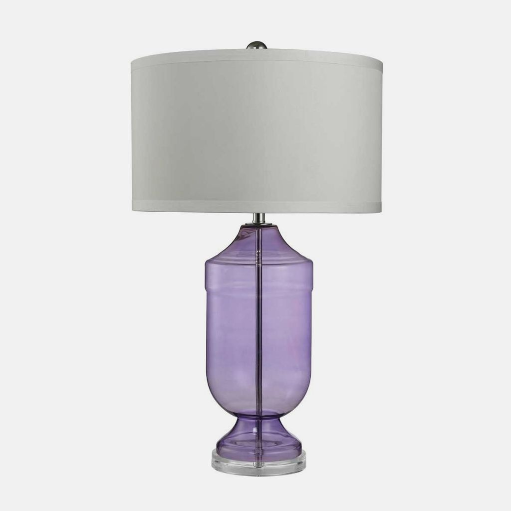 Modern glass table lamp - After All Is It Not Said That Purple Glass Table Lamp Is The New Black