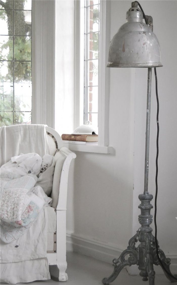 10 perfect places to use shabby chic floor lamps in a home with shabby chic floor lamps acting as the perfect replacement they can be place adjacent to the dining room tables completing the look aloadofball Choice Image