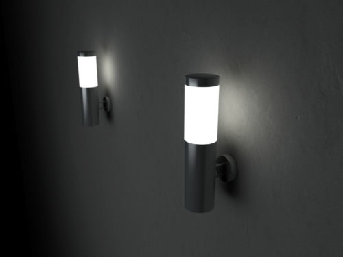 Solar garden wall lights Photo - 1