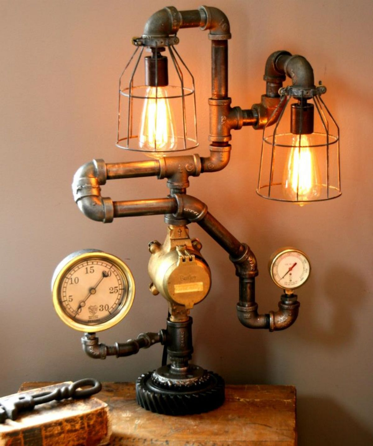 Steampunk Lamps 25 Ways To Add A Touch Of Vintage And