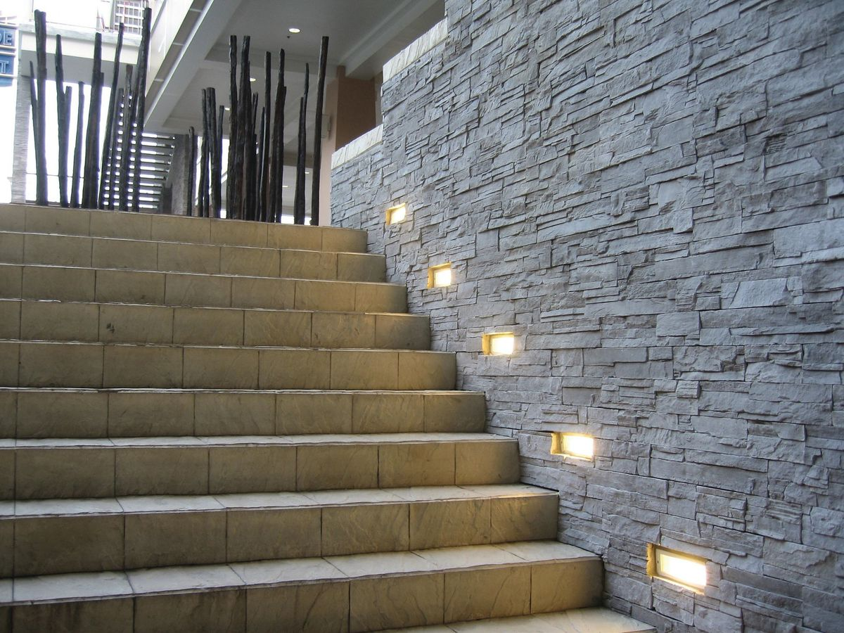 Stone Wall Grazing Lighting Fixtures Stone Wall Lights A