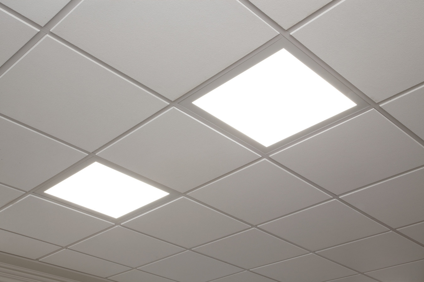 Suspended ceiling led panel light ceiling designs led ceiling tile lights designs dailygadgetfo Image collections