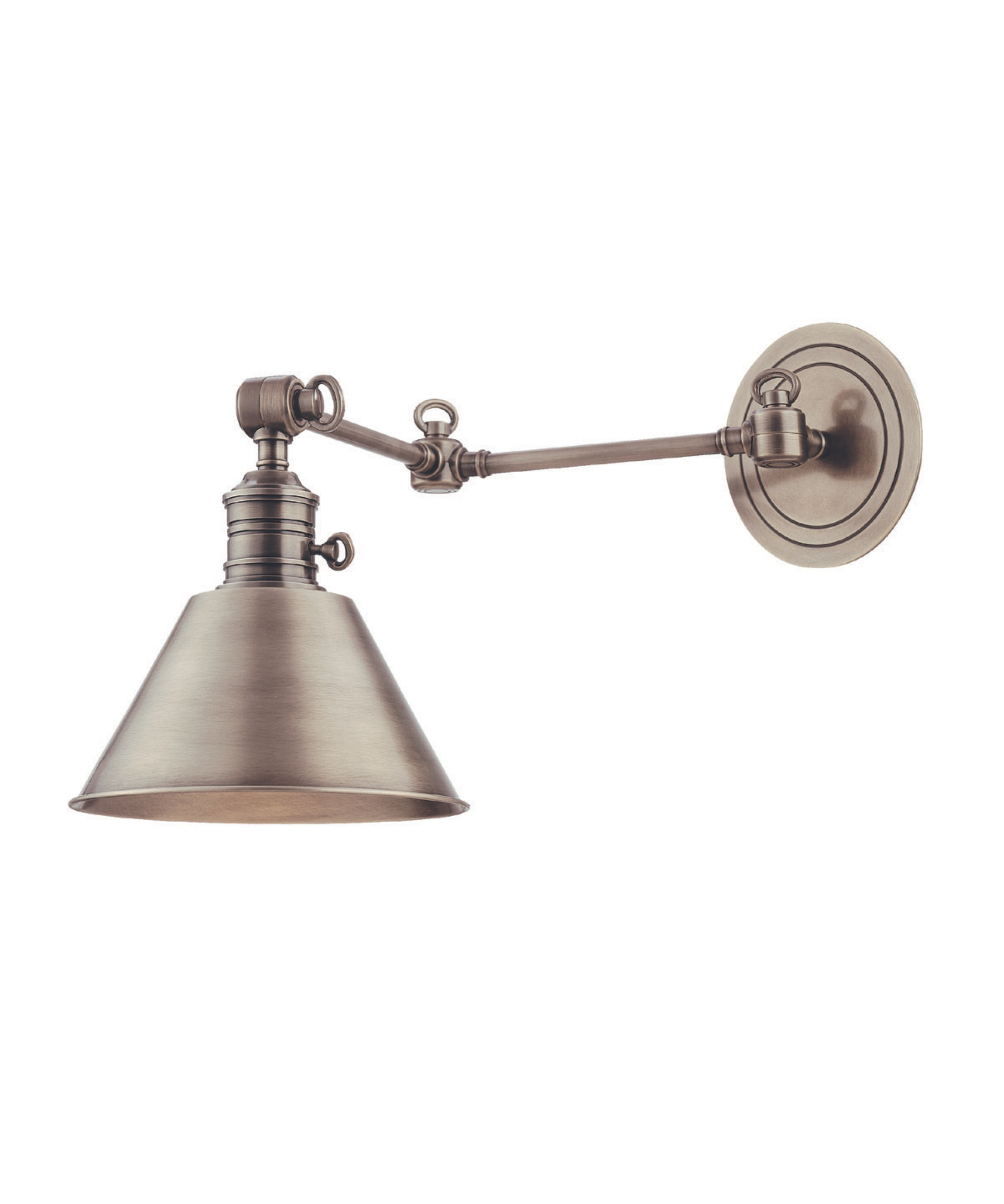 Plug In Wall Lamp Aztec Lighting 1light Brushed Nickel