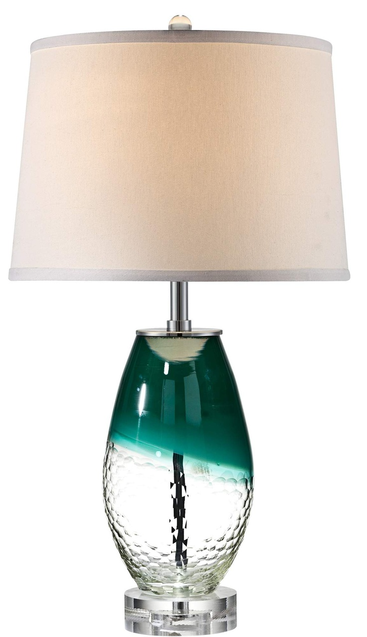 Teal Glass Lamp Creation Of Harmony Within The Room