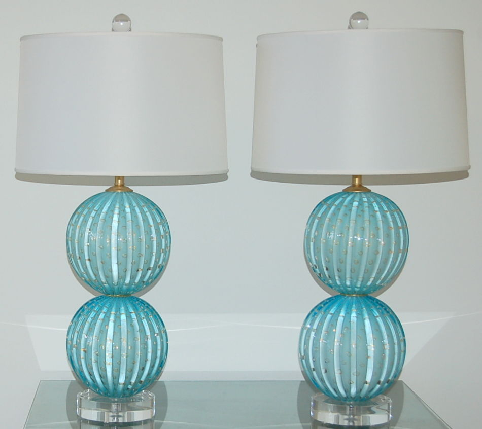 #7 Sand Watch Teal Lamp