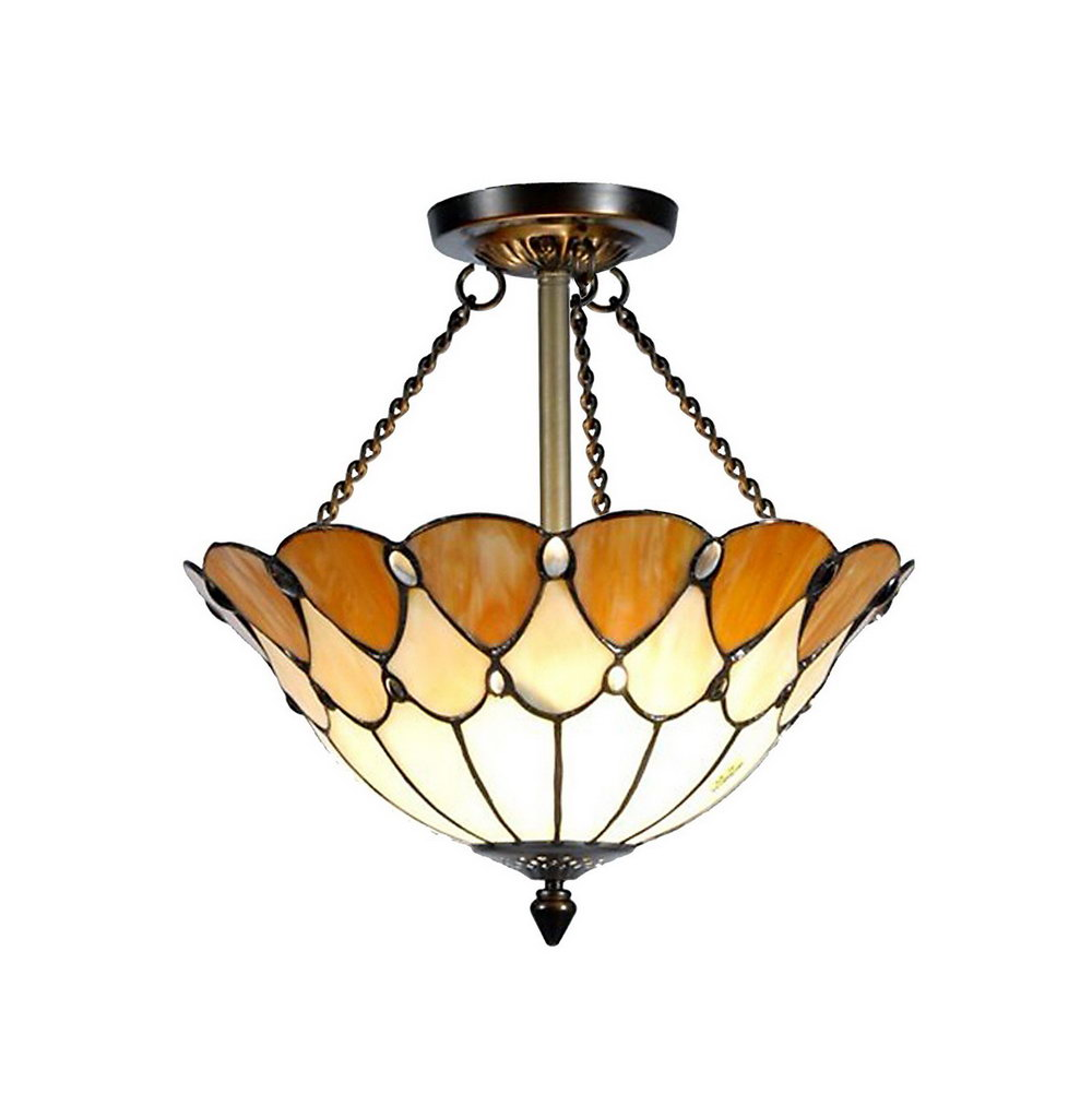 ceiling halston overstock stained fan of mahogany river style shipping free tiffany product glass goods home today garden blue