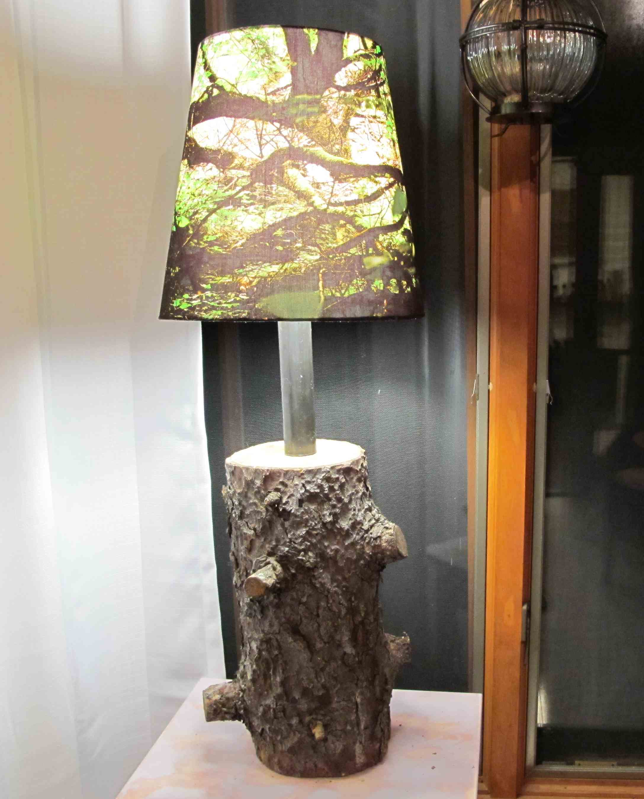 Bring the outdoors in with the Tree stump lamp | Warisan Lighting