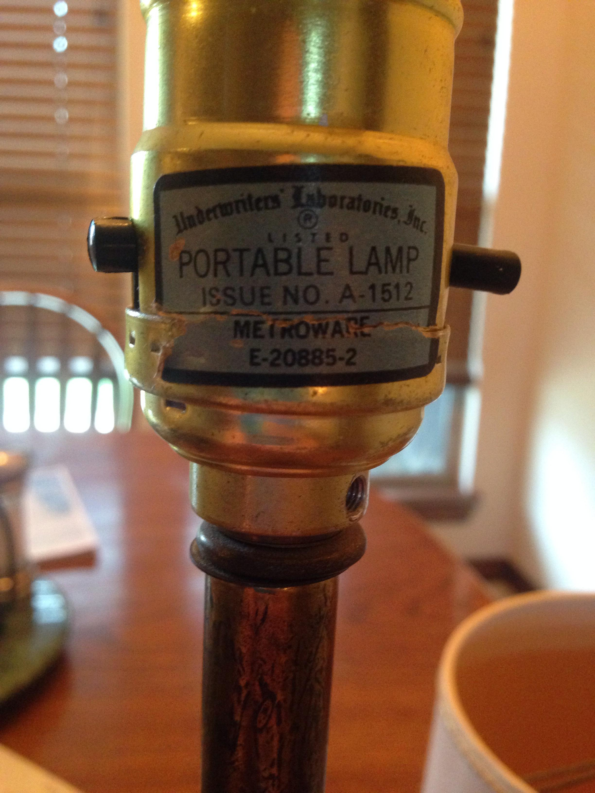 The need for underwriters laboratories inc portable lamp | Warisan ...