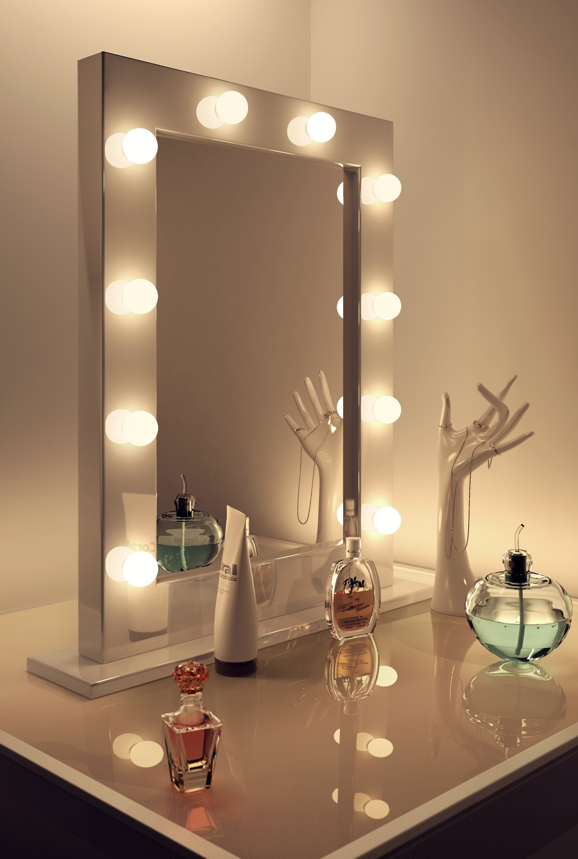Wall Mirror With Lights vanity wall mirror with lights - a great way to light up your