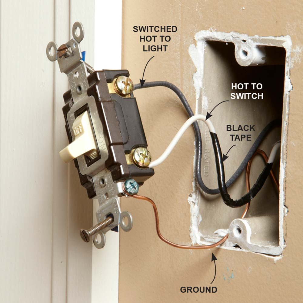 Diagram Wall Light Switch Wiring