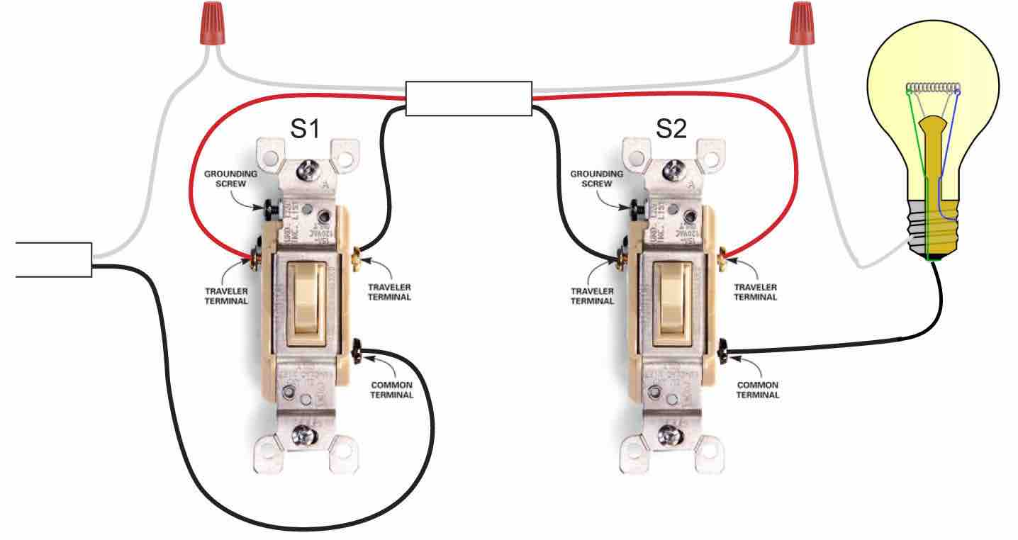 Wall Light Switch Wiring on 4 way lighted toggle switch
