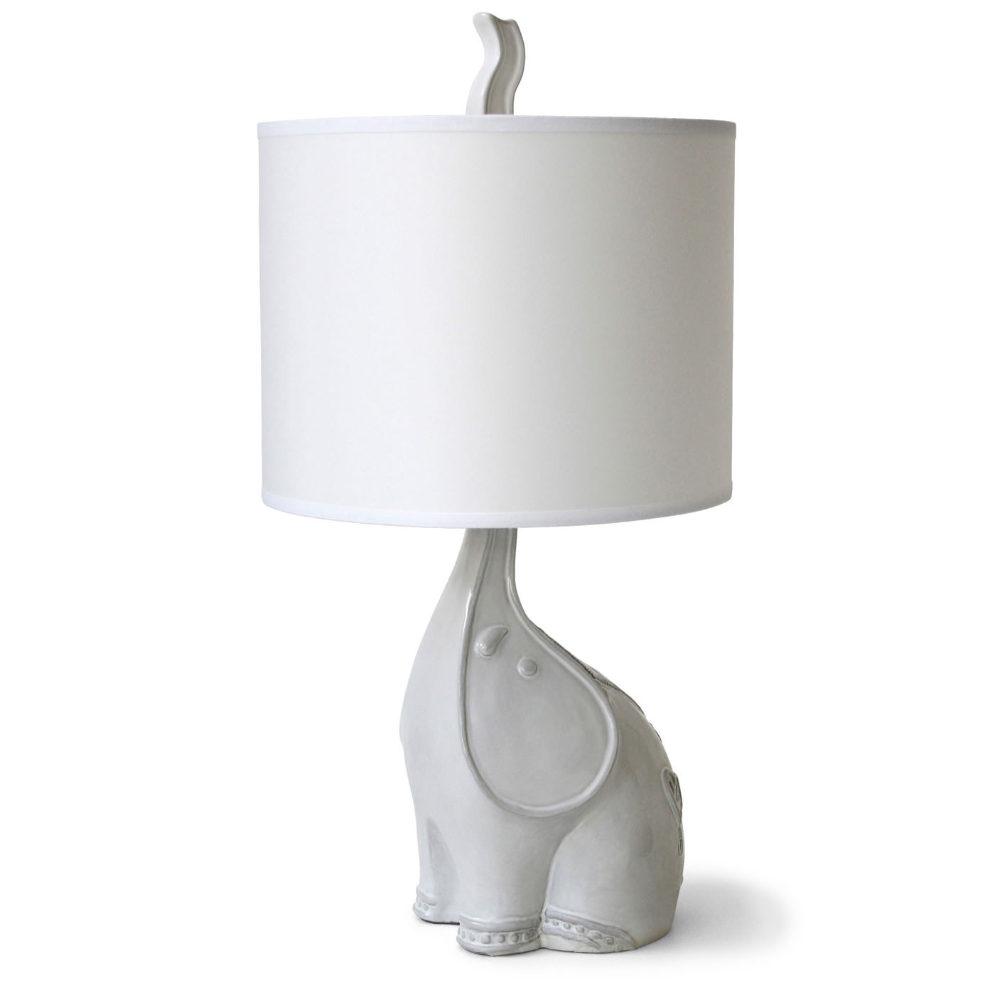 Highlight Your Bedroom With A White elephant lamp Warisan Lighting