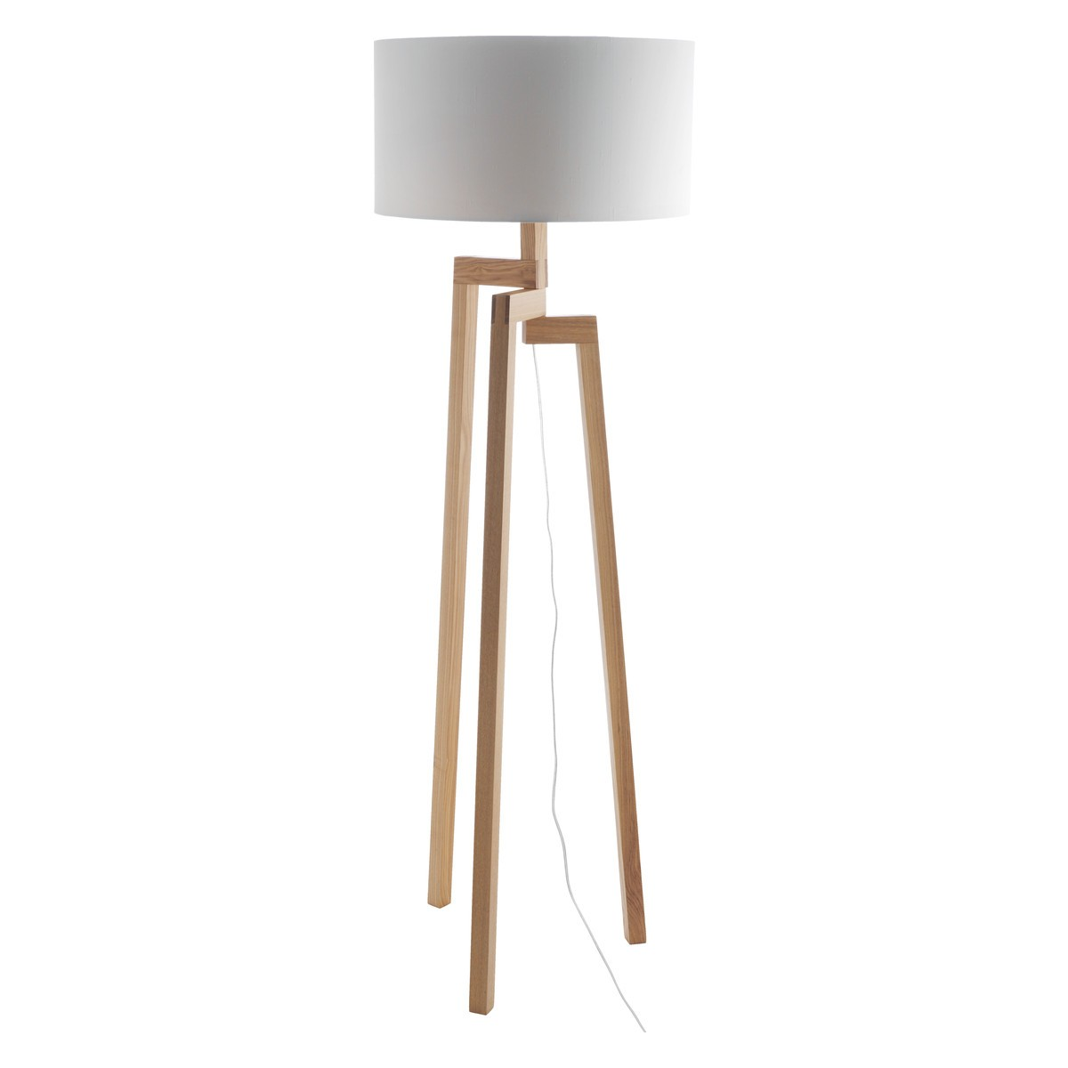White wooden floor lamp feeling of symmetry and Wood floor lamp