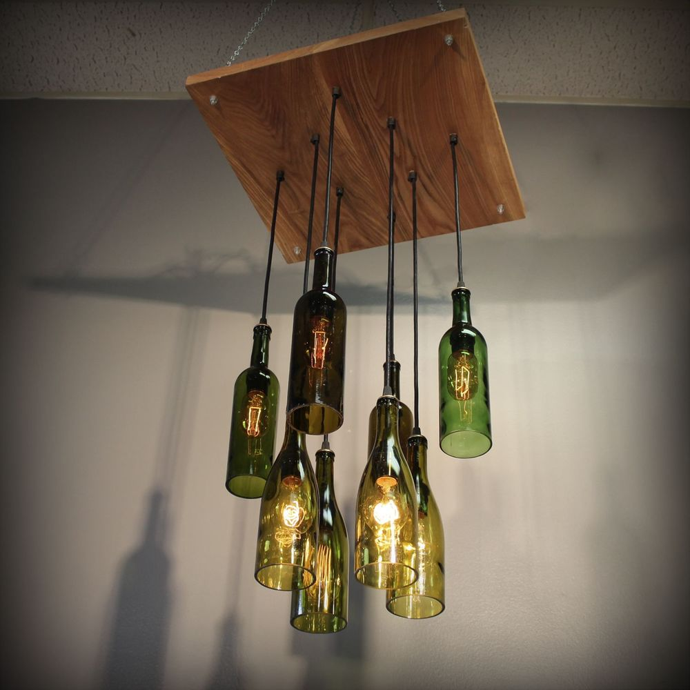 Wine Bottle Ceiling Light 10 Methods To Renew The Room
