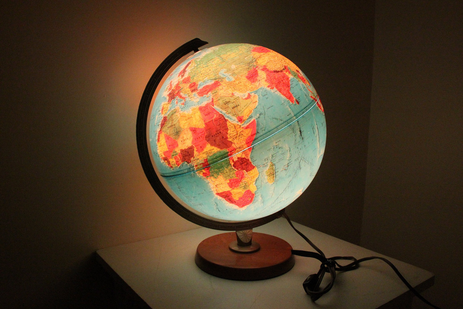 Open the light of the world with world globe lamps warisan lighting the world map is clearly inked around the lamp surface making them ideal for children especially those who adore traveling or knowing about various parts of gumiabroncs Image collections