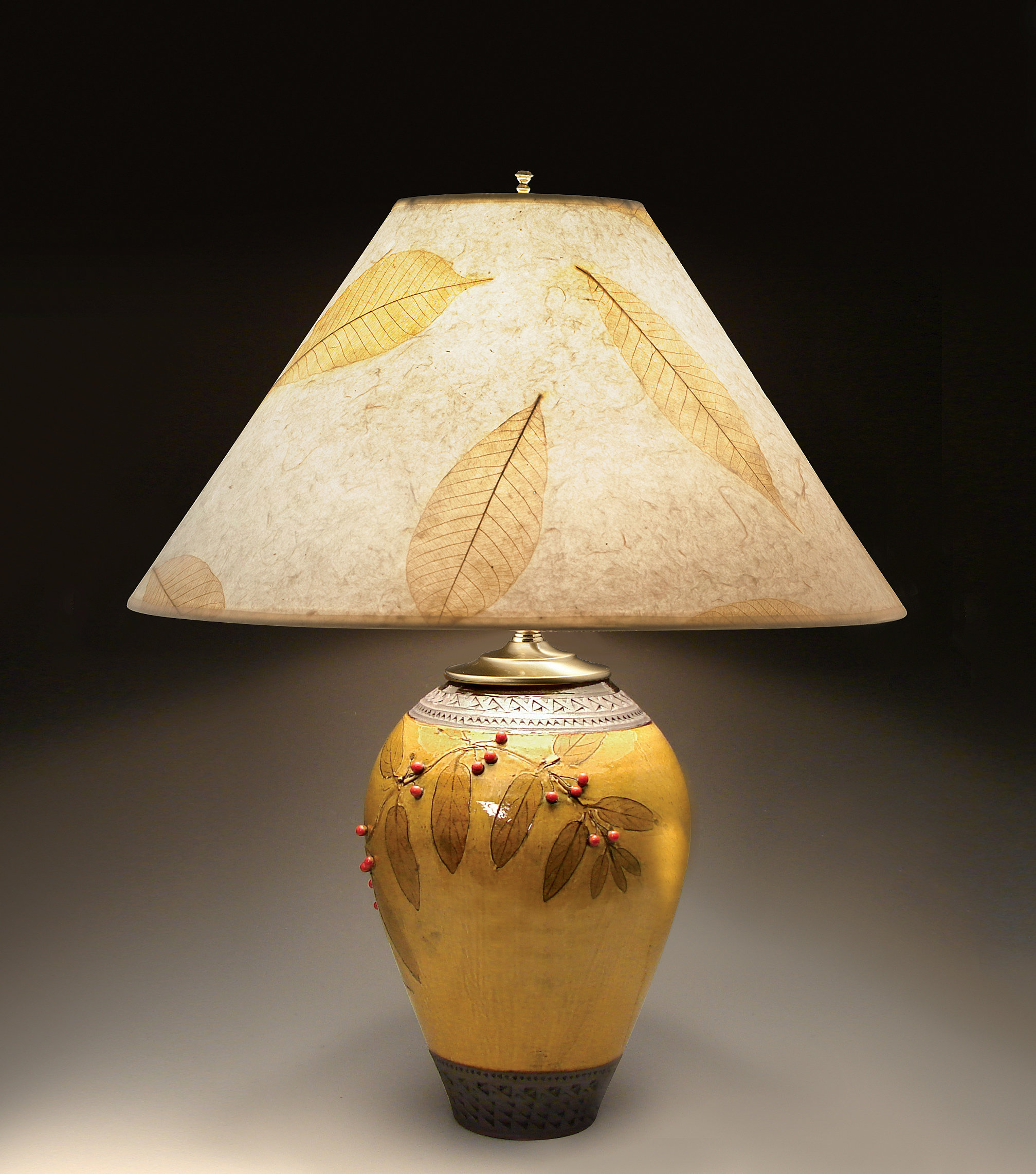 Yellow Ceramic Table Lamp Gives Highlights To Any Zone Of