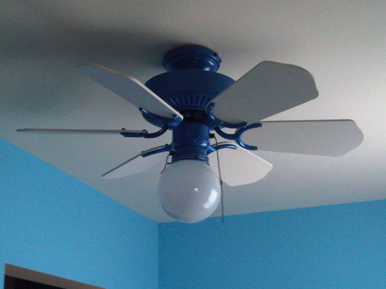 Light Blue Ceiling Fan