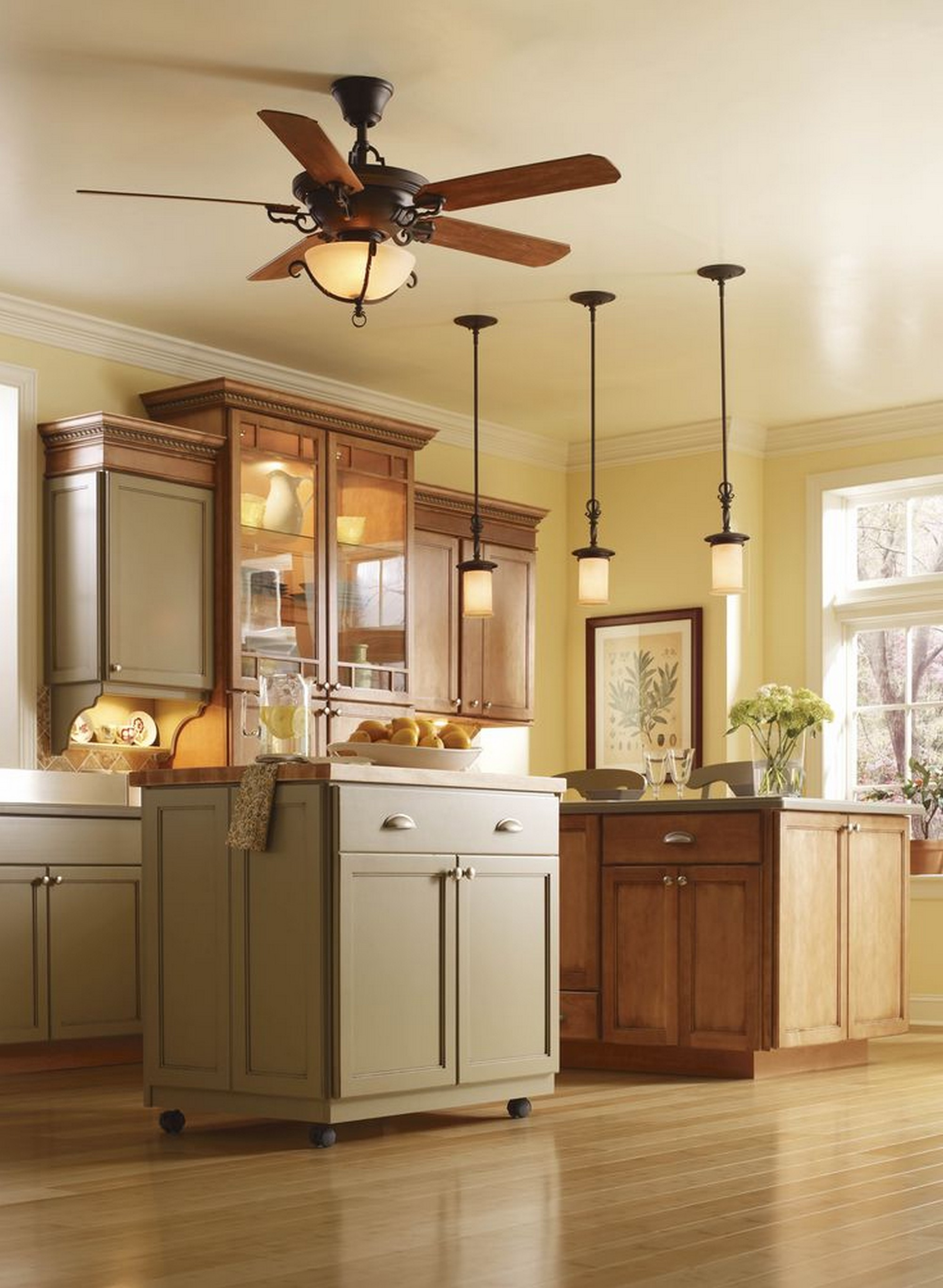 amazing Ceiling Fans For Kitchens With Light #2: Type of kitchen