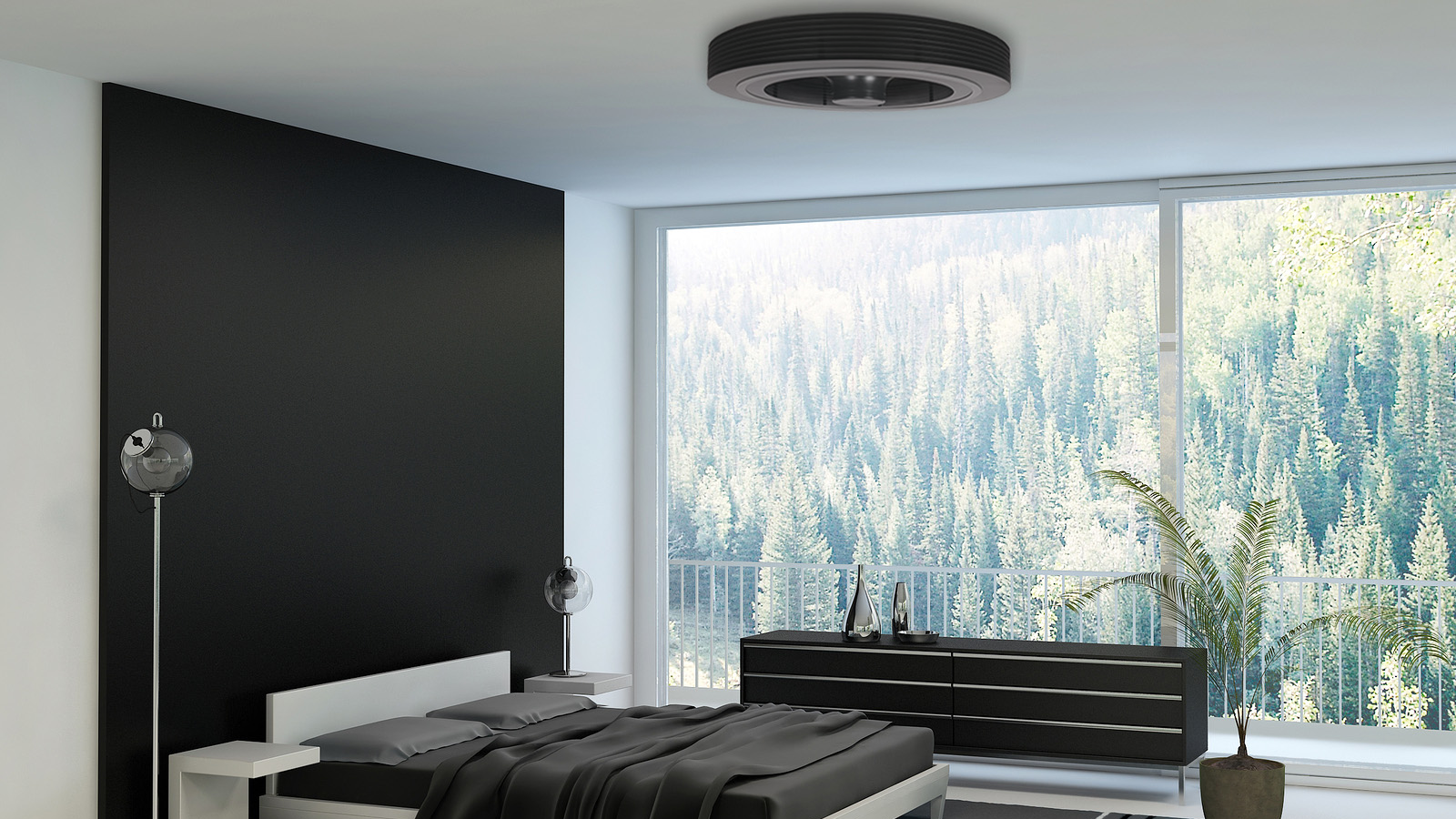 Exhale bladeless ceiling fan  superior performance coupled with adding a  steady equilibrium of air