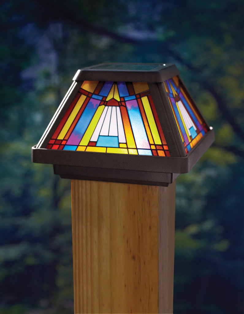 Fence post lights outdoor style and security of your home warisan lighting for Solar exterior post lantern light