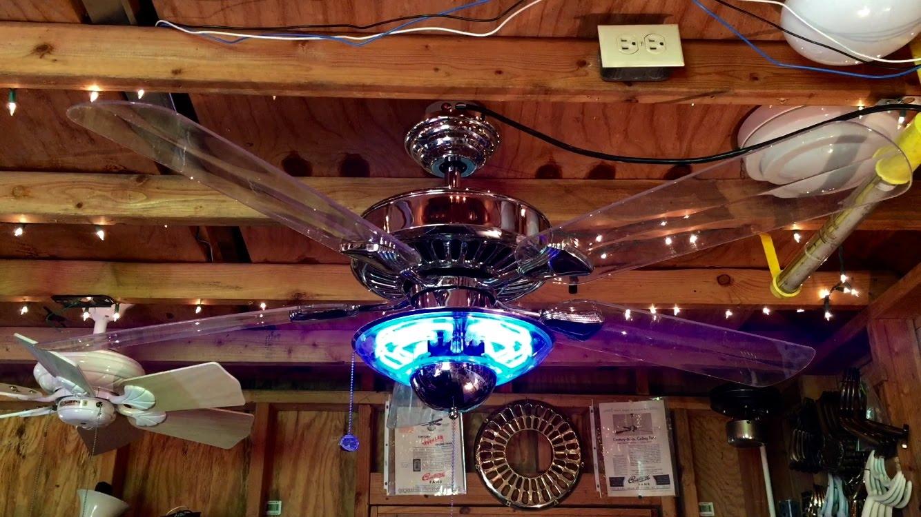 Ceiling fan with onion light : Neon light ceiling fan designs