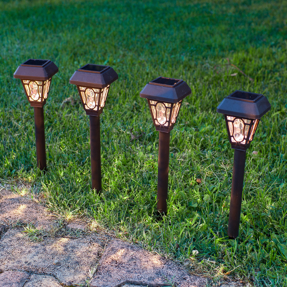 Solar stake lights outdoor