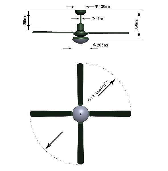 Ceiling Fan Dimensions The Right Celling Fan Dimension