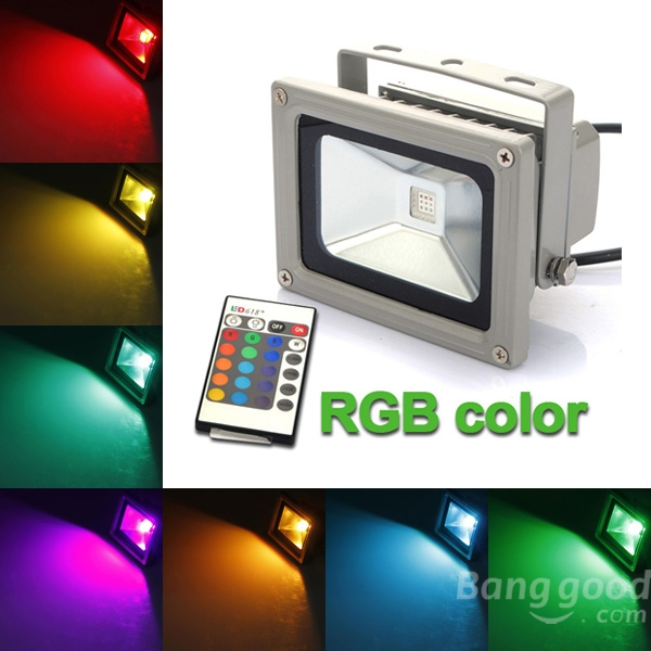 Colored outdoor flood lights