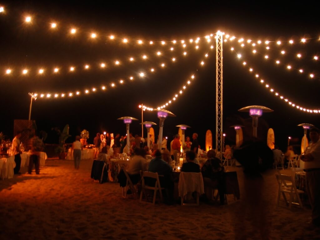 Decorative string lights outdoor