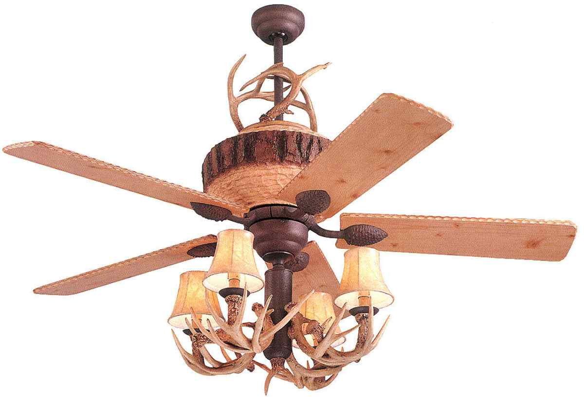 You Can Find Any Ambience Want With These Differing Fan Options Deer Horn Ceiling