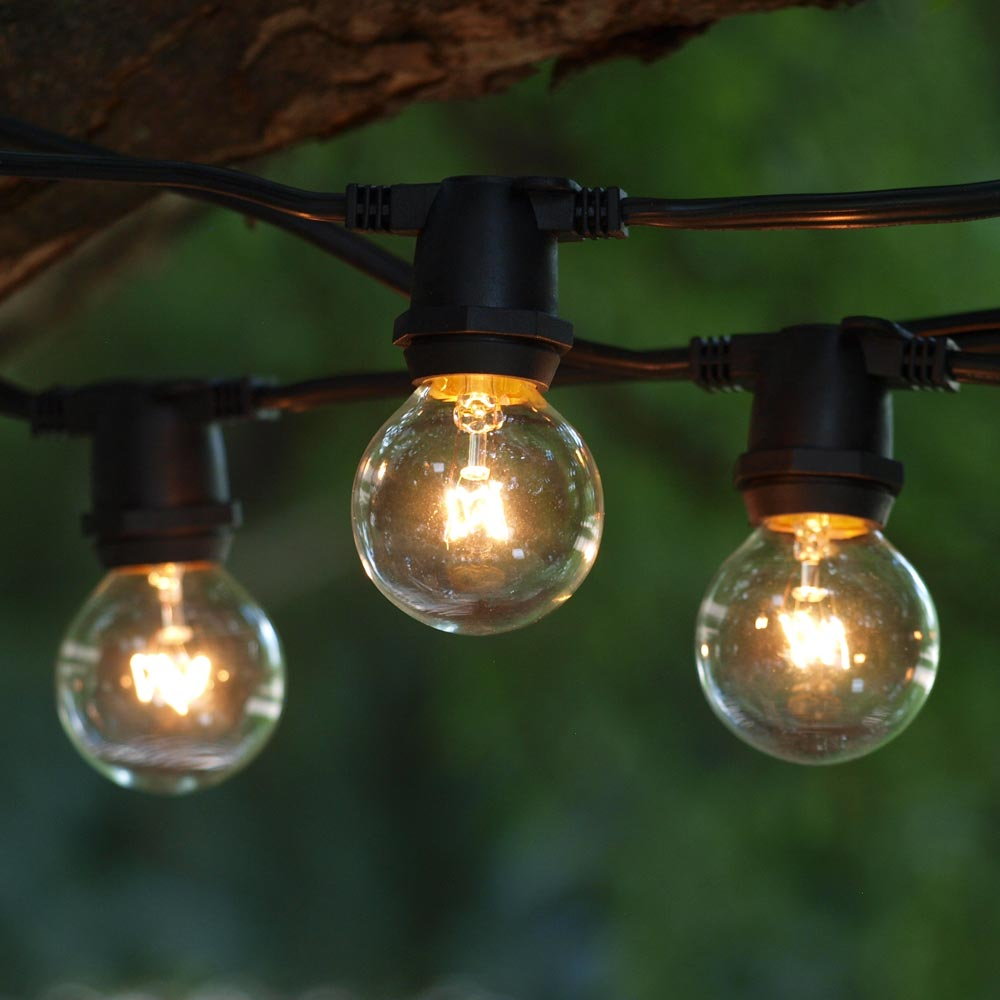 Superb Globe Light String Outdoor U2013 The Best Outdoor Light For Your Garden