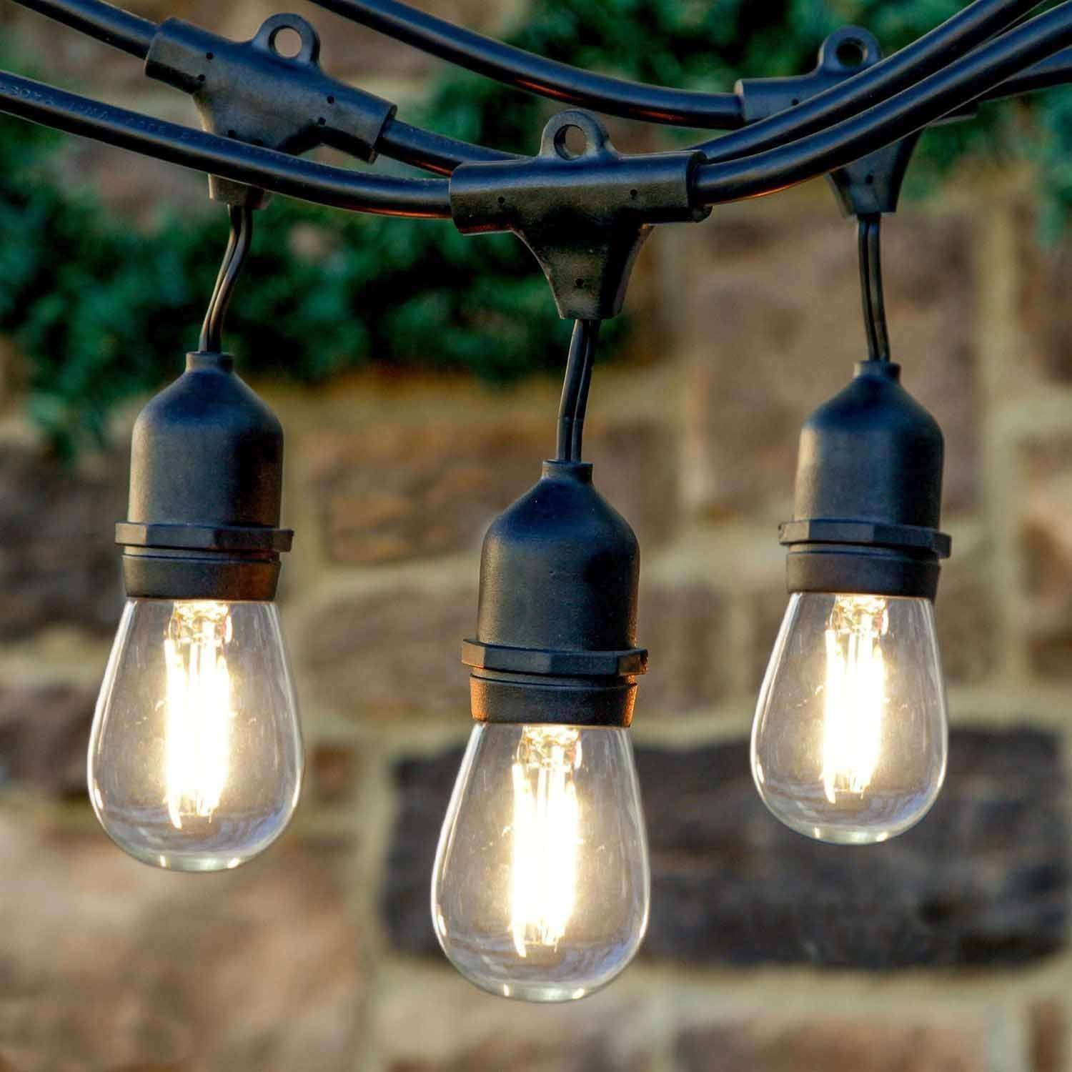 Outdoor led string lighting lighting ideas for Patio string light ideas
