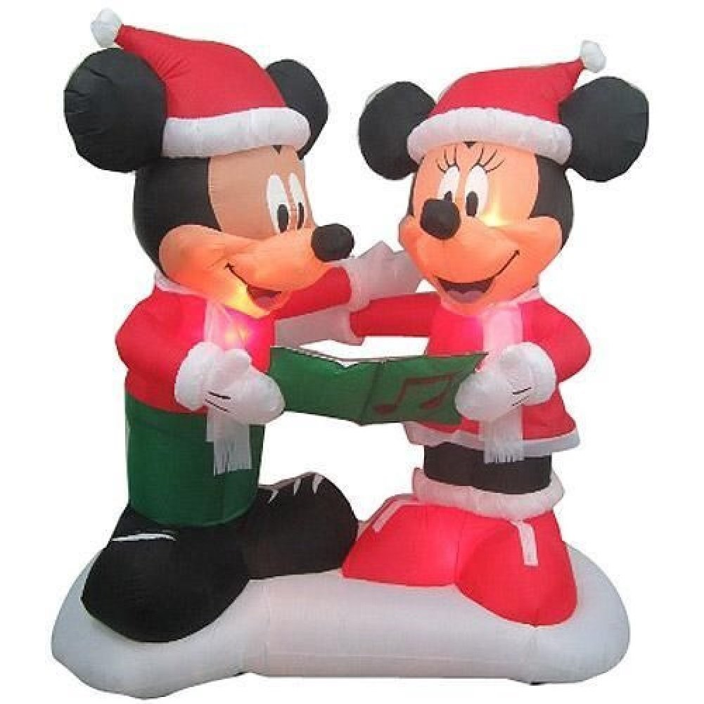 1 mickey and minnie mouse are learning christmas carols - Mickey Mouse Christmas Lawn Decorations
