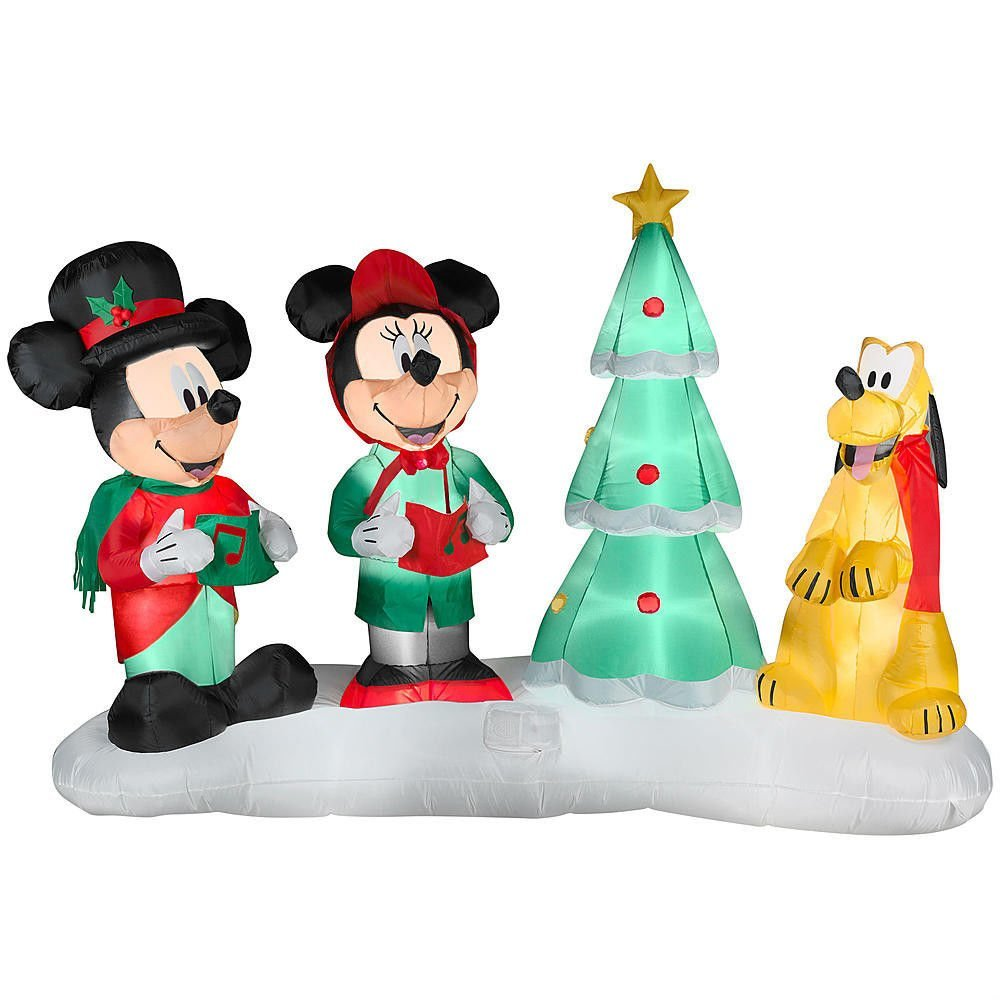 this airblown composition comes with remote control and can play 4 various songs moreover it was produced on the occasion of the 85th anniversary of - Mickey Mouse Christmas Songs