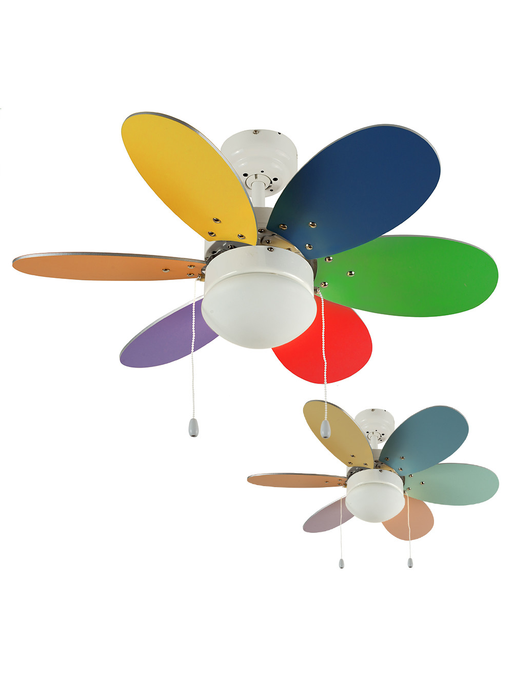 Multi Colored Ceiling Fan For The Style Of Your Rooms Warisan Lighting