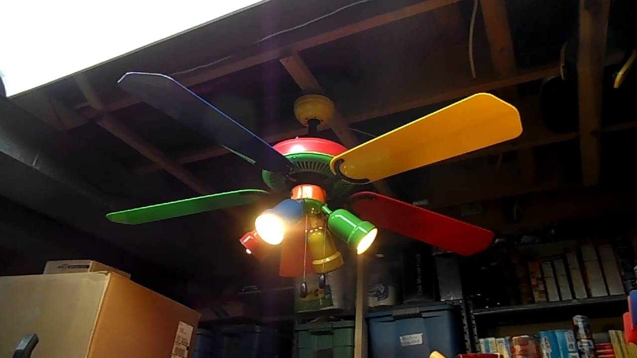 Multi Colored Ceiling Fan For The Style Of Your Rooms